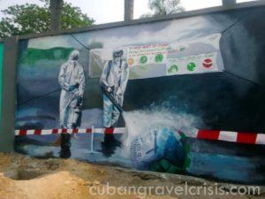 จิตรกรรม ฝาผนังของชาวคองโกเกี่ยวกับไวรัสโคโรน่า
